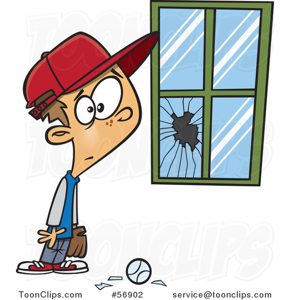 cartoon-worried-white-boy-standing-next-to-a-window-broken-by-a-baseball-by-toonaday-56902
